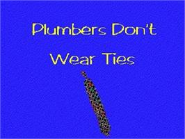 Title screen of Plumbers Don't Wear Ties on the Panasonic 3DO.