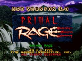 Title screen of Primal Rage on the Panasonic 3DO.