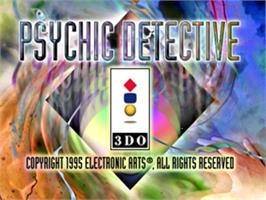 Title screen of Psychic Detective on the Panasonic 3DO.