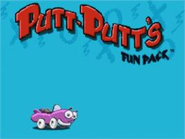 Title screen of Putt-Putt's Fun Pack on the Panasonic 3DO.