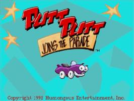 Title screen of Putt-Putt Joins the Parade on the Panasonic 3DO.