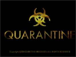 Title screen of Quarantine on the Panasonic 3DO.