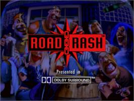 Title screen of Road Rash on the Panasonic 3DO.