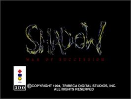 Title screen of Shadow: War of Succession on the Panasonic 3DO.