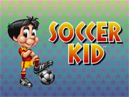 Title screen of Soccer Kid on the Panasonic 3DO.