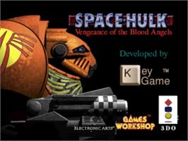 Title screen of Space Hulk: Vengeance of the Blood Angels on the Panasonic 3DO.