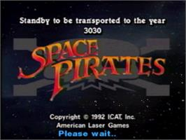 Title screen of Space Pirates v2.2 on the Panasonic 3DO.