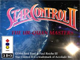 Title screen of Star Control 2 on the Panasonic 3DO.