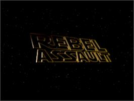 Title screen of Star Wars: Rebel Assault on the Panasonic 3DO.
