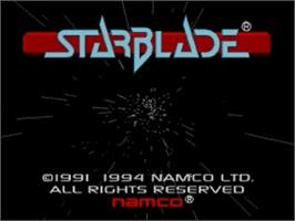 Title screen of Starblade on the Panasonic 3DO.