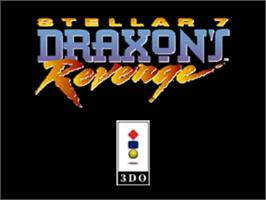 Title screen of Stellar 7: Draxon's Revenge on the Panasonic 3DO.