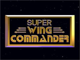 Title screen of Super Wing Commander on the Panasonic 3DO.