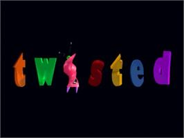 Title screen of Twisted: The Game Show on the Panasonic 3DO.