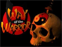 Title screen of Way of the Warrior on the Panasonic 3DO.