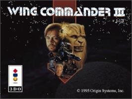 Title screen of Wing Commander III: Heart of the Tiger on the Panasonic 3DO.