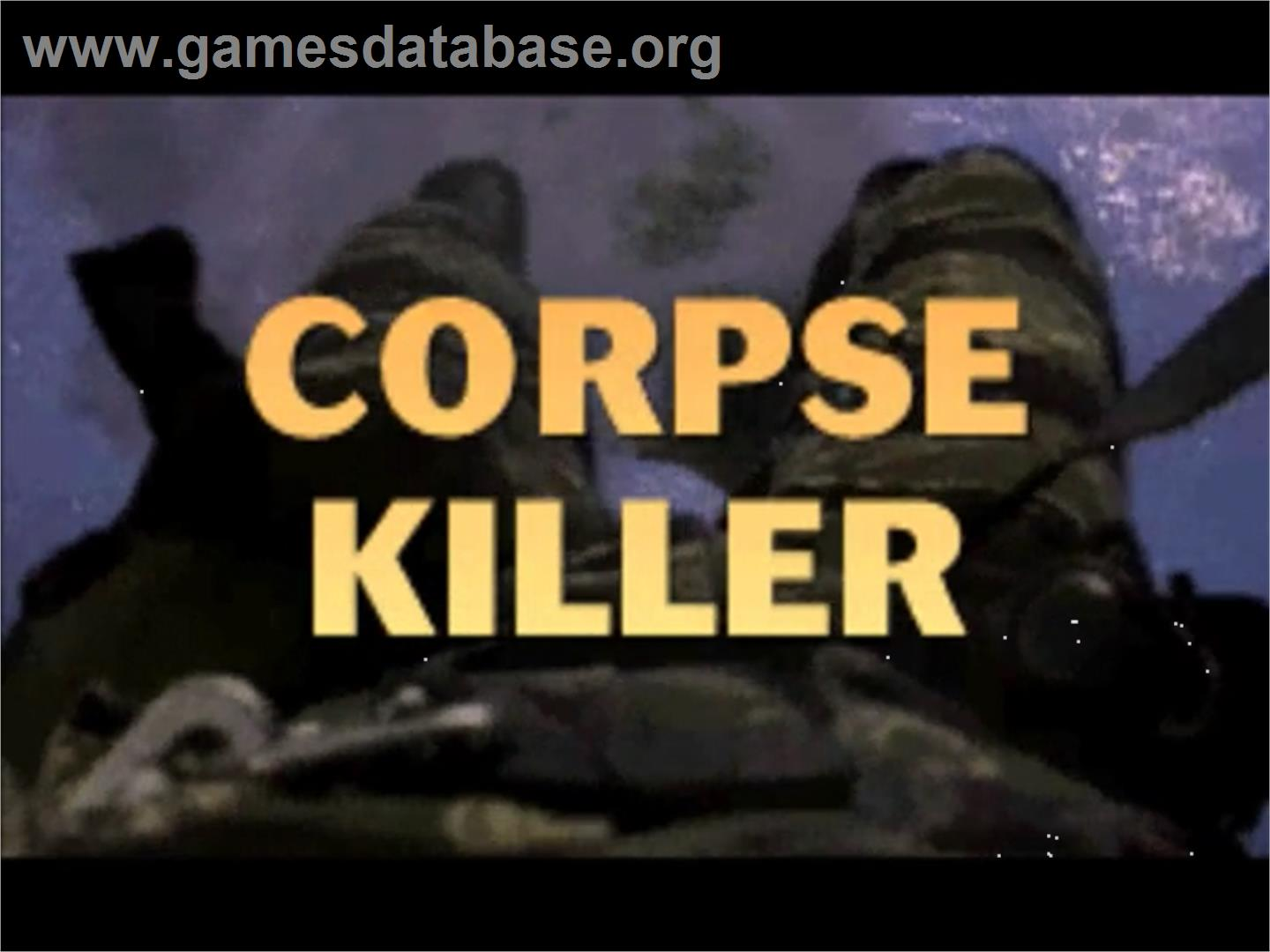 Title screen of Corpse Killer on the Panasonic 3DO.