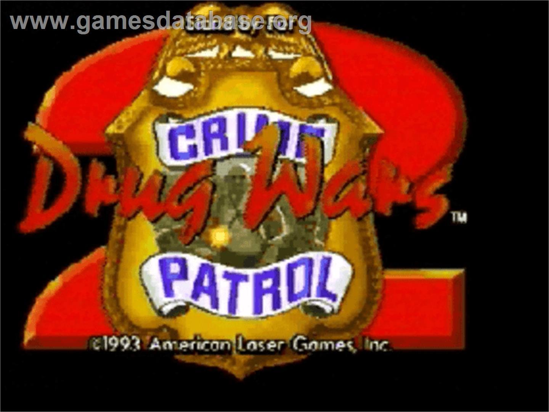 Title screen of Drug Wars on the Panasonic 3DO.