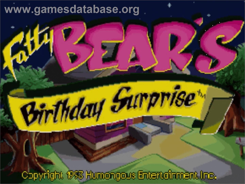 Title screen of Fatty Bear's Birthday Surprise on the Panasonic 3DO.