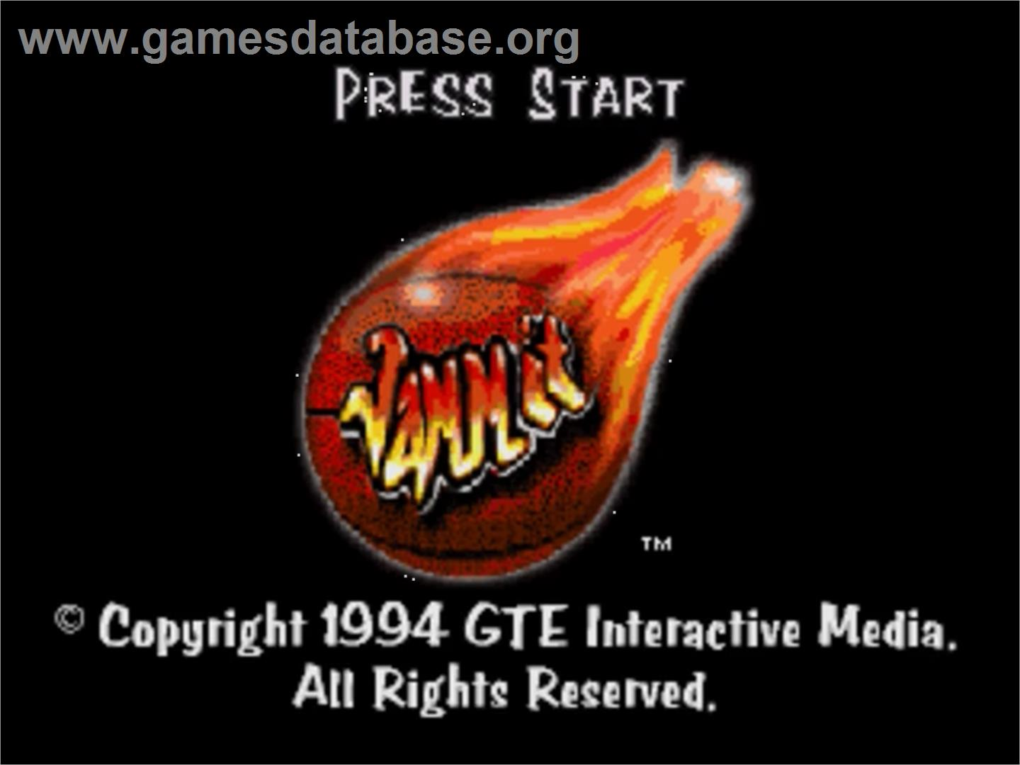 Title screen of Jammit on the Panasonic 3DO.