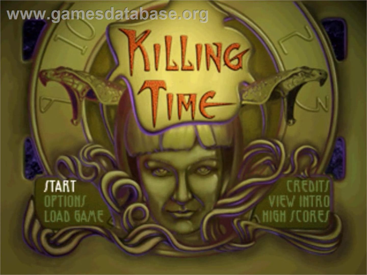 Title screen of Killing Time on the Panasonic 3DO.