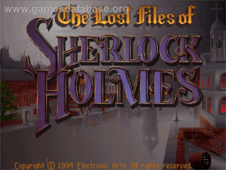 of Sherlock Holmes: The Case of the Serrated Scalpel - Panasonic 3DO