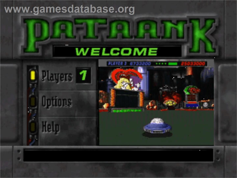 Title screen of PaTaank on the Panasonic 3DO.