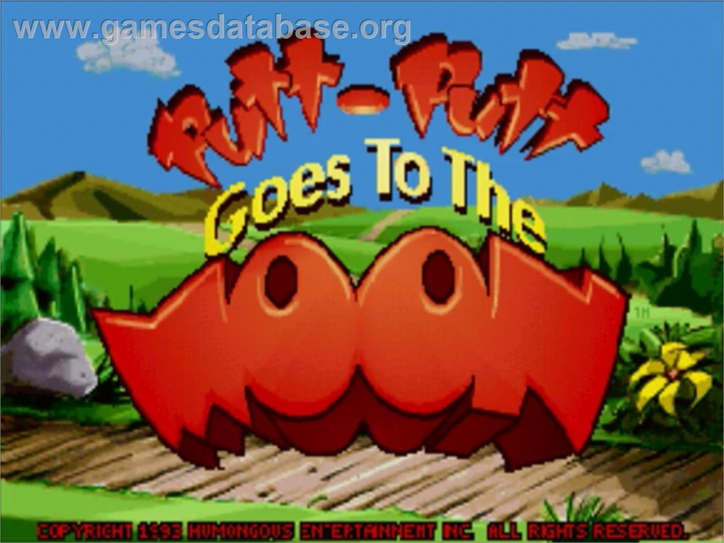 Title screen of Putt-Putt Goes to the Moon on the Panasonic 3DO.