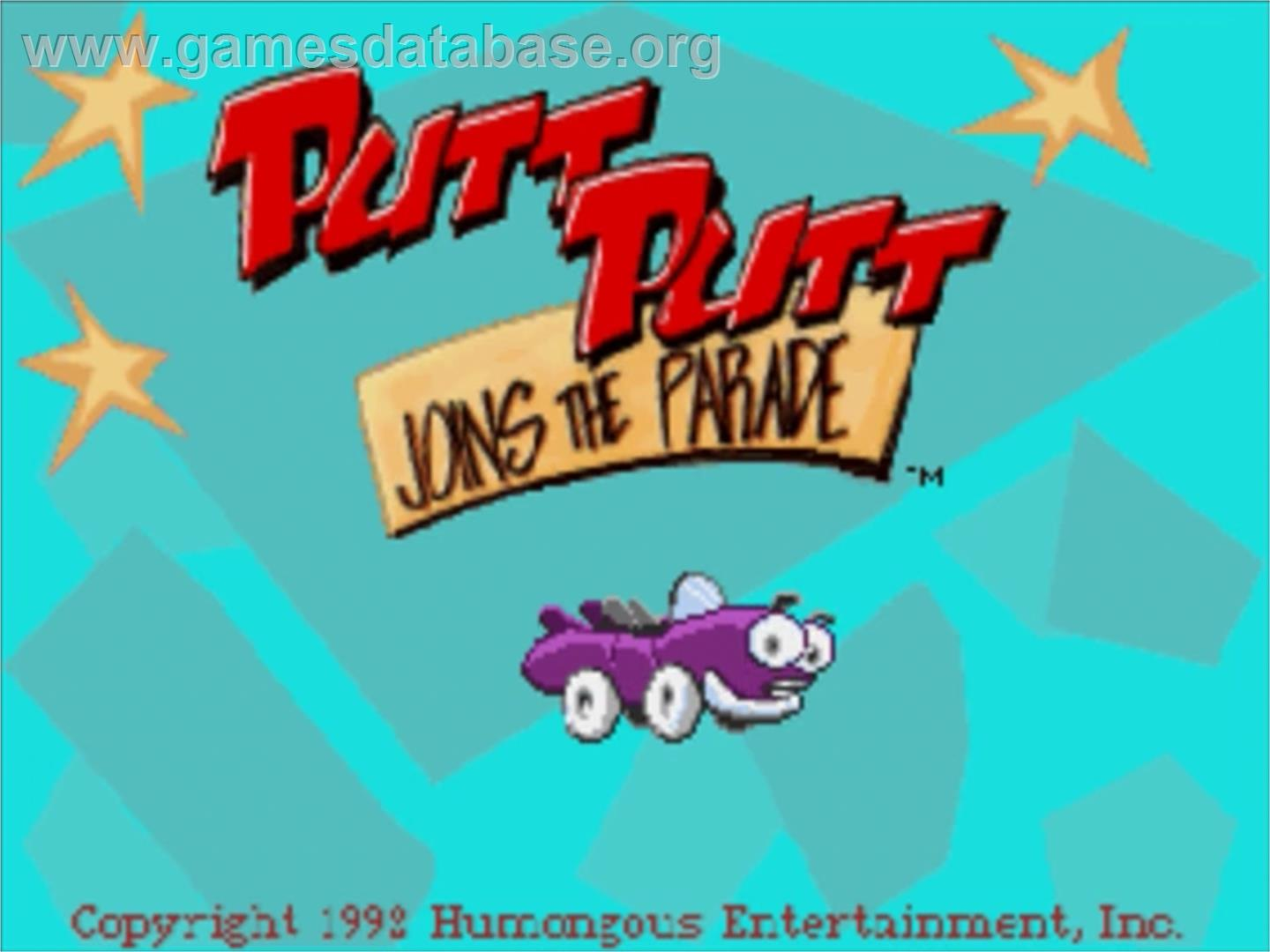 Putt-Putt Joins the Parade - Panasonic 3DO - Artwork - Title Screen