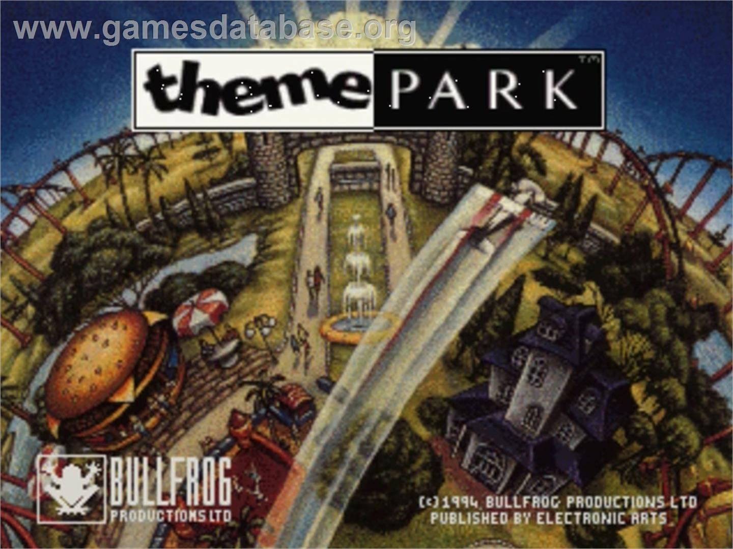 Theme Park - Panasonic 3DO - Artwork - Title Screen
