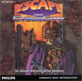 Box cover for Escape From CyberCity on the Philips CD-i.