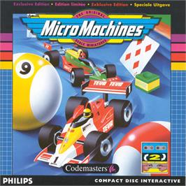 Box cover for Micro Machines on the Philips CD-i.