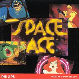 Box cover for Space Ace on the Philips CD-i.
