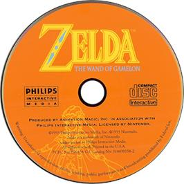 Artwork on the CD for Zelda: The Wand of Gamelon on the Philips CD-i.