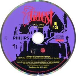 Artwork on the Disc for 7th Guest on the Philips CD-i.