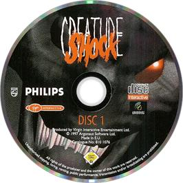 Artwork on the Disc for Creature Shock on the Philips CD-i.