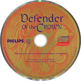 Artwork on the Disc for Defender of the Crown on the Philips CD-i.
