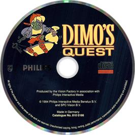 Artwork on the Disc for Dimo's Quest on the Philips CD-i.