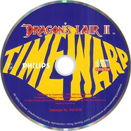 Artwork on the Disc for Dragon's Lair 2 on the Philips CD-i.