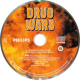 Artwork on the Disc for Drug Wars on the Philips CD-i.