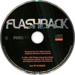 Artwork on the Disc for Flashback on the Philips CD-i.