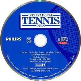 Artwork on the Disc for International Tennis Open on the Philips CD-i.