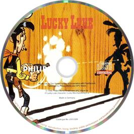 Artwork on the Disc for Lucky Luke: The Video Game on the Philips CD-i.