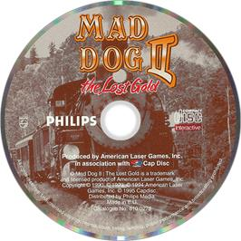 Artwork on the Disc for Mad Dog II: The Lost Gold on the Philips CD-i.