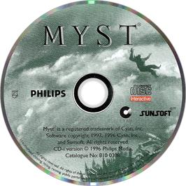Artwork on the Disc for Myst on the Philips CD-i.