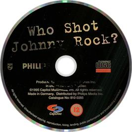 Artwork on the Disc for Who Shot Johnny Rock? v1.6 on the Philips CD-i.