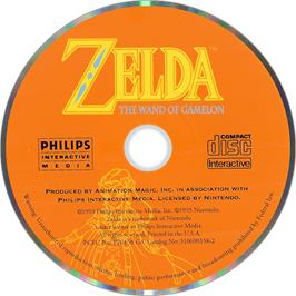 Artwork on the Disc for Zelda: The Wand of Gamelon on the Philips CD-i.