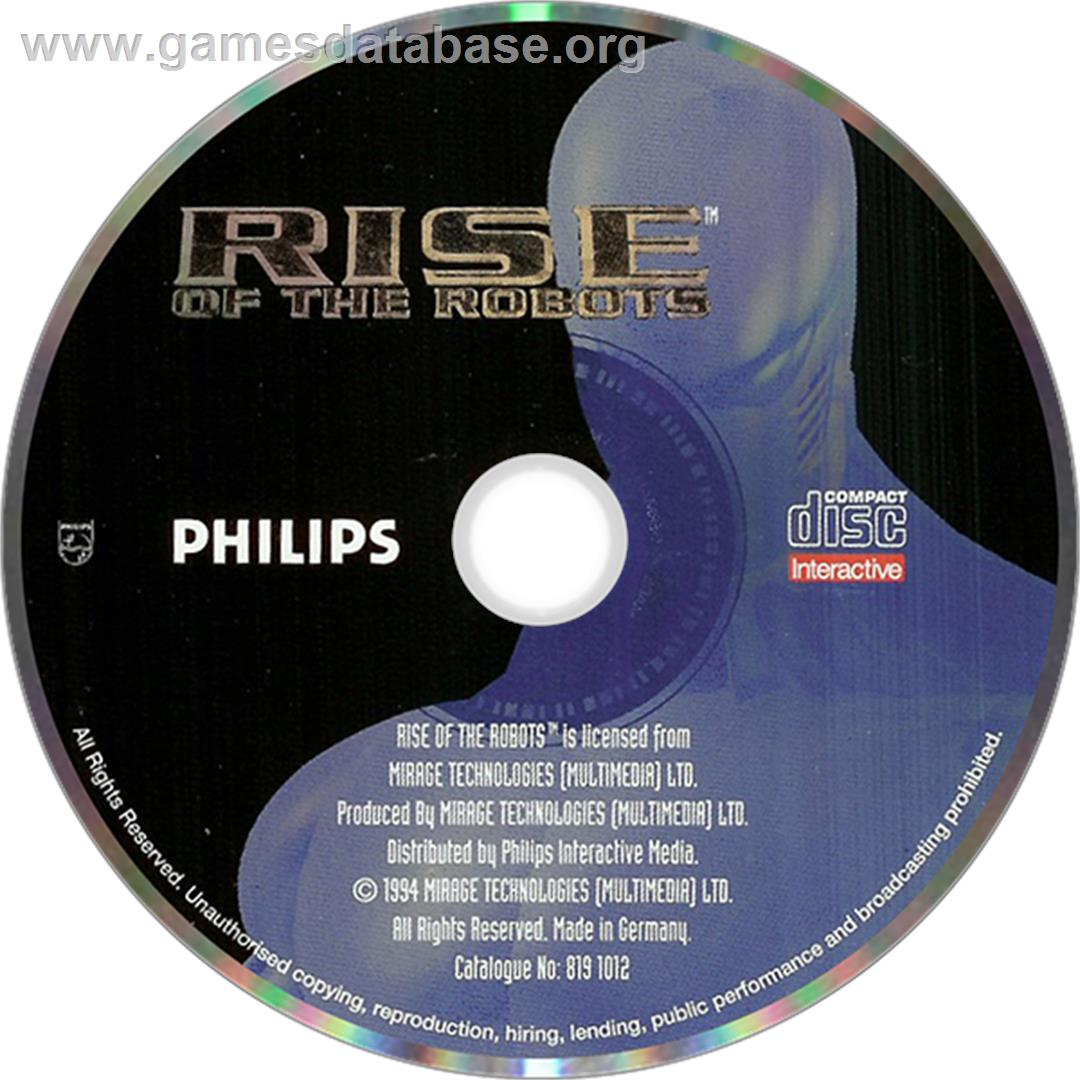 Rise of the Robots - Philips CD-i - Artwork - Disc
