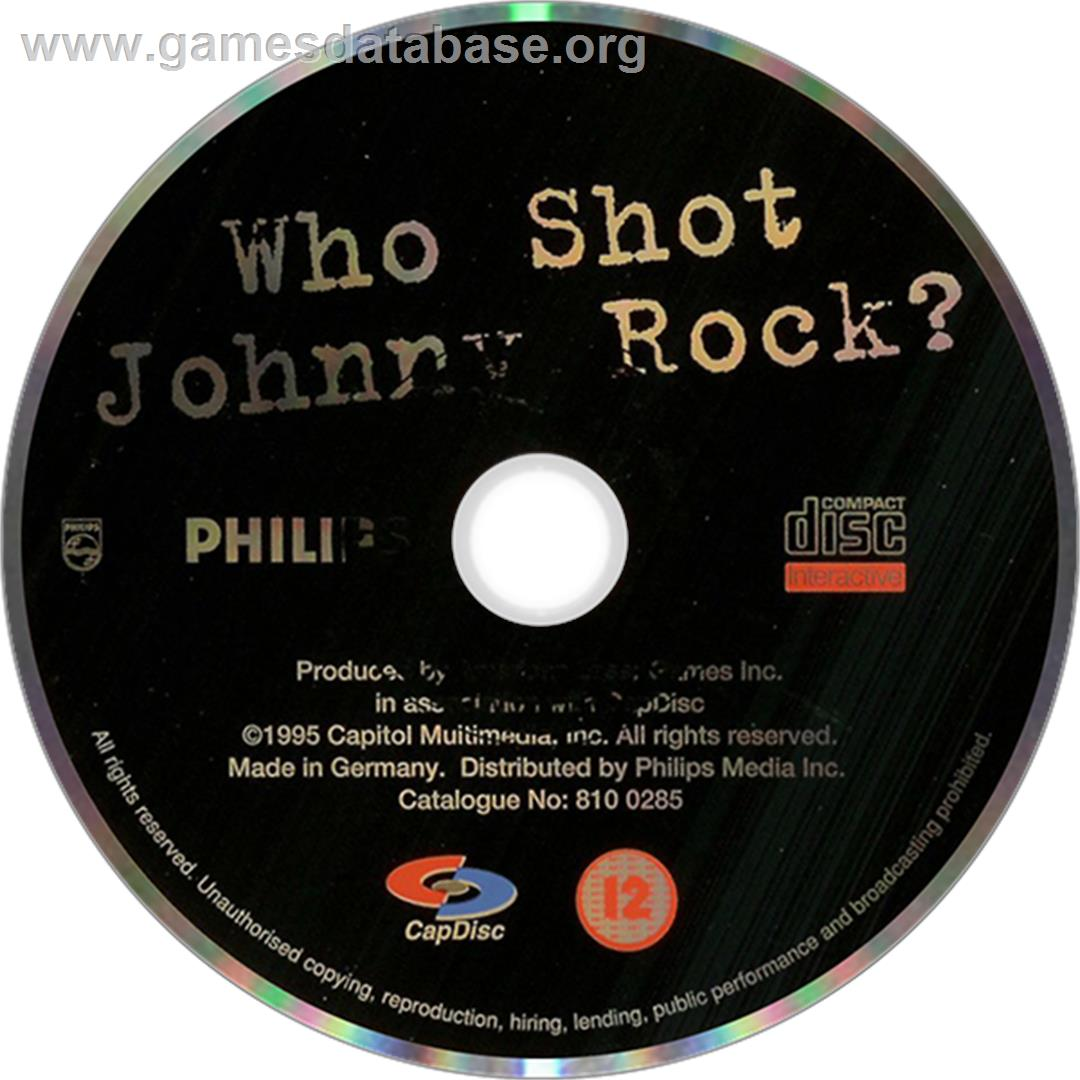 Who Shot Johnny Rock? v1.6 - Philips CD-i - Artwork - Disc
