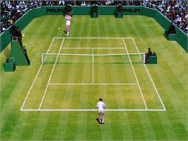 In game image of International Tennis Open on the Philips CD-i.