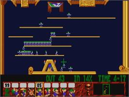 In game image of Lemmings on the Philips CD-i.